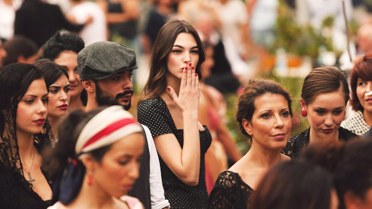 Photos from the backstage of Dolce & Gabbana spot in Cefalù