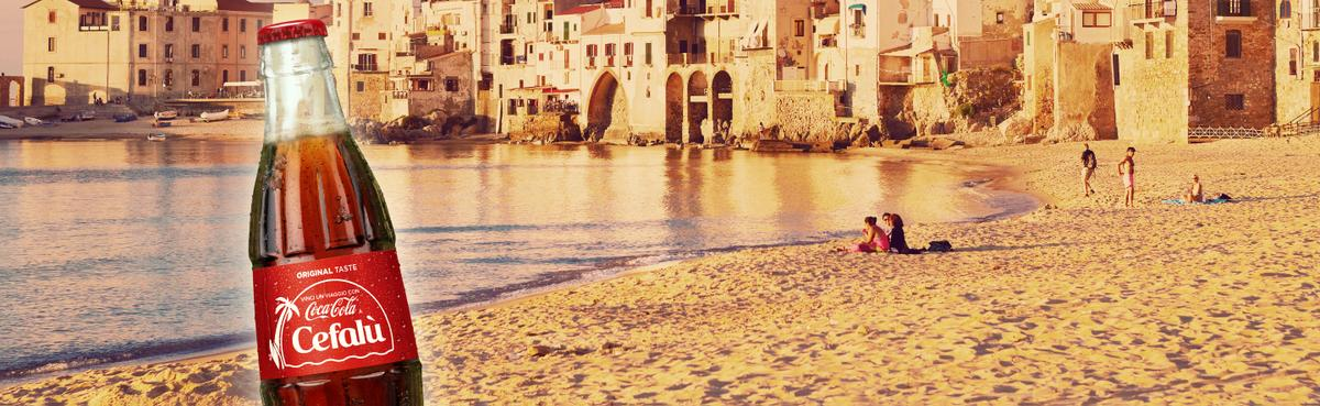 "Take a trip to Cefalu with ""Coca-Cola"""