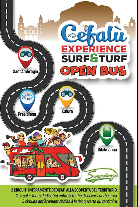 Cefalù Experience Surf&Turf Open Bus